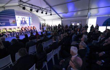 Savona, 21/02/2020 Cerimonia di inaugurazione del viadotto Madonna del Monte sulla A6 Torino-Savona Nella foto: Paola De Micheli