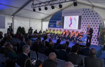 Savona, 21/02/2020 Cerimonia di inaugurazione del viadotto Madonna del Monte sulla A6 Torino-Savona Nella foto: Bernardo Magrì