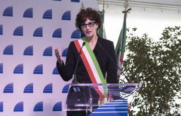 Savona, 21/02/2020 Cerimonia di inaugurazione del viadotto Madonna del Monte sulla A6 Torino-Savona Nella foto: Ilaria Caprioglio